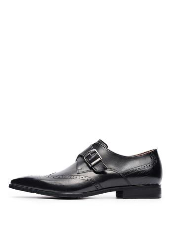 MIT好穿快脫esprit outlet 桃園。打蠟牛皮金屬釦孟克鞋-04713-黑色, 鞋, 皮鞋