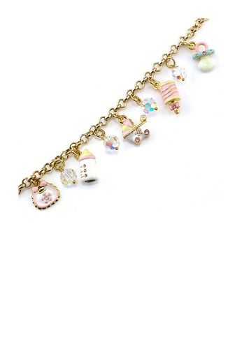Glamorousky silver Glistering Bracelet with Fancy Charms, Austrian Element Crystals and CZ FDEFEAC9A20AF4GS_1