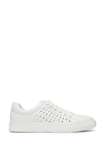 PAZZION white Laser Cut Sneakers 6FB2CSHA99D6C7GS_1