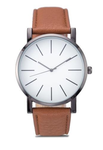 New Look brown Minimal Face Watch NE182AC46EZDMY_1