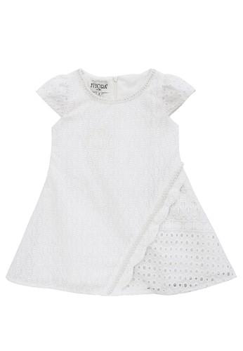 FIYORA white Nola Cotton Girl Dress 91B77KA1A97BCFGS_1