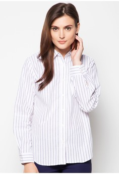 Woven Long Sleeves Top