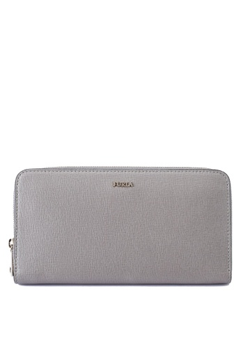 Furla grey Babylon XL Zip Around Wallet 21C2BACA86233DGS_1