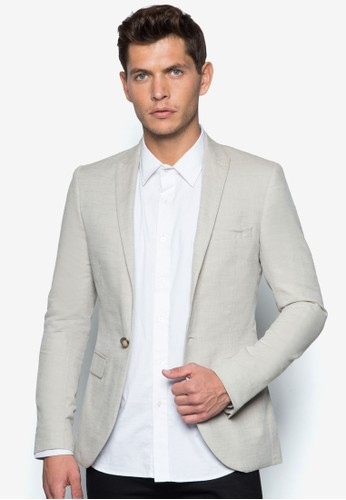 羊毛混紡貼身esprit 衣服西裝外套, 服飾, 休閒西裝外套