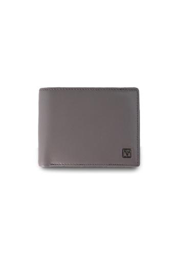 Valentino Rudy grey Valentino Rudy Leather Bill-Fold Wallet VA677AC56LTJSG_1