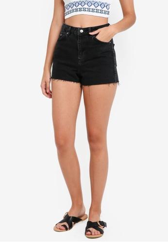 TOPSHOP black Mom Shorts 46932AAC3E8086GS_1