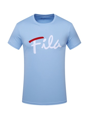 FILA blue Logo Cotton Tee 7B338AA4717996GS_1