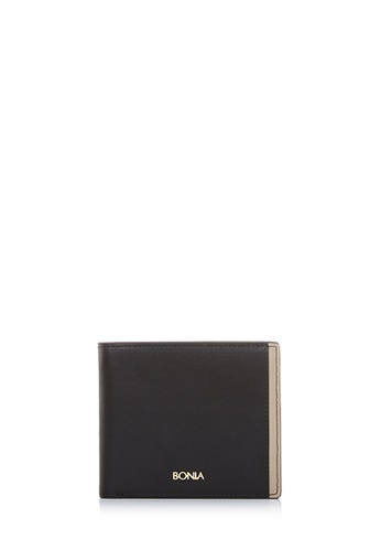 BONIA black Black Astor Short Two Fold Wallet D41E3AC4B88996GS_1