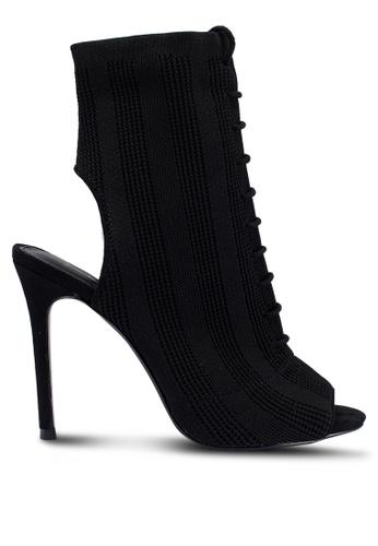 TOPSHOP 黑色 綁帶襪靴 EB8D8SH362C1F5GS_1