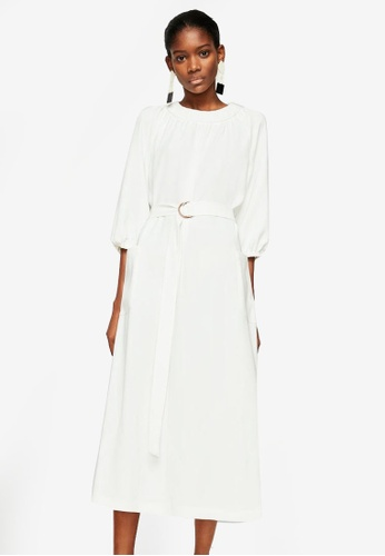 Mango white Pocket Oversize Dress E7FD5AA83F968AGS_1