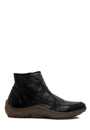 D-Island black D-Island Shoes Zipper Slip On High Quality Genuine Leather Black DI594SH98ACBID_1
