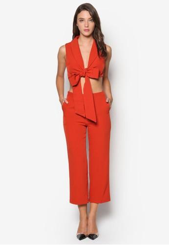 素色繫esprit台北門市帶套裝, 服飾, 九分褲