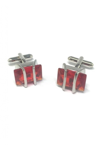 Splice Cufflinks red Red Gem Cufflinks SP744AC49FRUSG_1