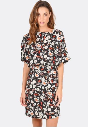 FORCAST black Farah Short Sleeve Dress F2A6EAA0C4B83CGS_1