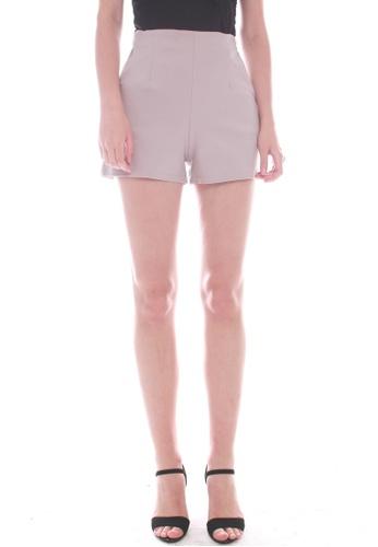 JOVET grey Gold Zip Shorts F9707AA698A4FEGS_1