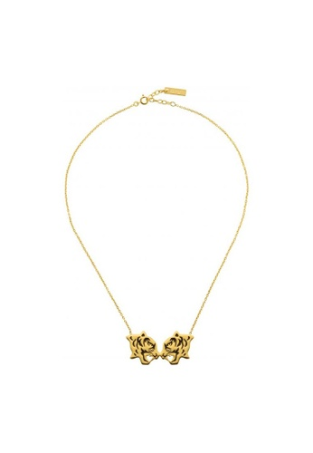 Kenzo gold KENZO DOUBLE TIGER NECKLACE 40DB2ACE794B7BGS_1