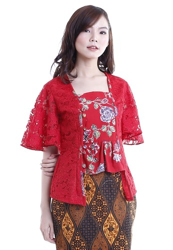 DhieVine Batik red and multi Soraya Encim Merah Kebaya 2429BAA928CFD2GS_1