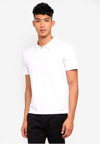 Jack & Jones white Short Sleeve Polo Shirt E6B05AAD7EEF62GS_1