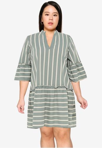Vero Moda green Afua 3/4 Above Knee Dress 90096AA86BFAC1GS_1