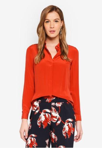 ICHI red Crush Shirt BA062AA6397031GS_1