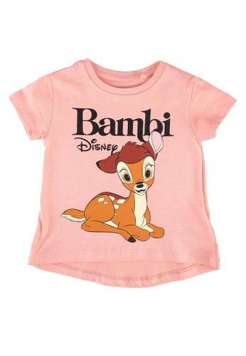 FOX Kids & Baby pink Baby Girls Bambi Print Tee E3417KA7AD6F71GS_1