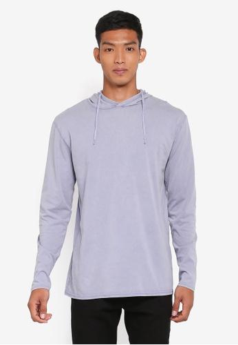 Factorie 藍色 長袖連帽T恤 FD090AAB6A69D8GS_1