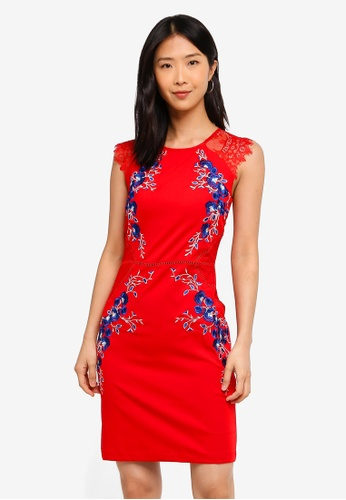 Megane red Red Romance Liealia Embroidery Dress C0EB5AA4D9771CGS_1