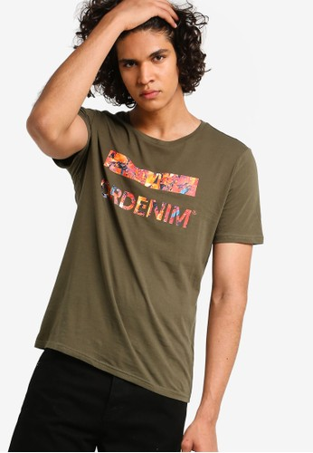 Dr Denim green and multi Patrick Tee 58082AA3CE8F21GS_1