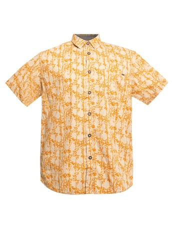 Watchout! Casual yellow Short Sleeve With Collar EE8F5AAE48C2E5GS_1
