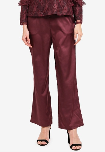Zalia purple Flare Pants 5E378AA645C6D3GS_1