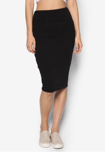 esprit地址及膝高腰短裙, 服飾, 裙子