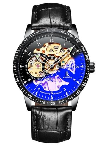 Ik Colouring lk Colouring Men Automatic Movement Mechanical Watch Black Leather Band Transparent Glass IK781AC0RUUGMY_1