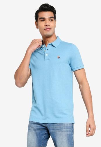 ABERCROMBIE & FITCH blue Niagara Core Polo Shirt BB533AA9CD9998GS_1