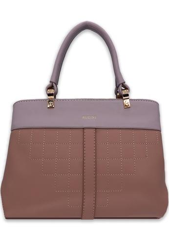 RUCINI pink Rucini Stitch-Effect Handbag C7139AC097CE29GS_1