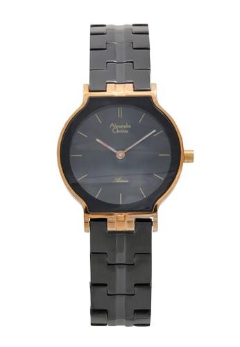 Alexandre Christie black Alexandre Christie Jam Tangan Wanita - Black Rosegold- Stainless Steel - 8410 LHBBRBA F5BD8AC434016DGS_1