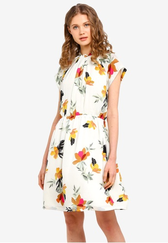 10e5c01aa5 Buy ESPRIT Light Woven Floral Mini Dress Online on ZALORA Singapore