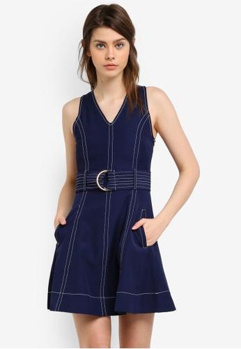 Megane navy Jacklyn Dress ME617AA0S0WDMY_1
