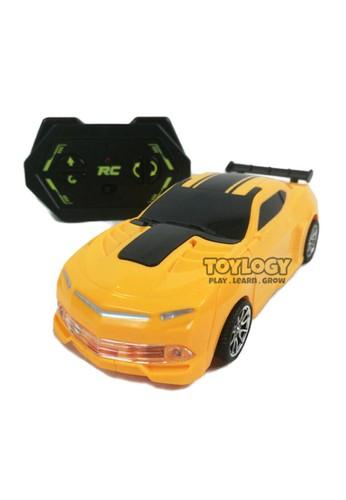 Toylogy multi Mainan Anak Radio Remote Control RC Deformation Robot Car Mobil Light 18F85TH9273812GS_1