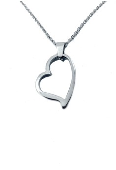 Stainless Steel Curvy Heart Necklace HH