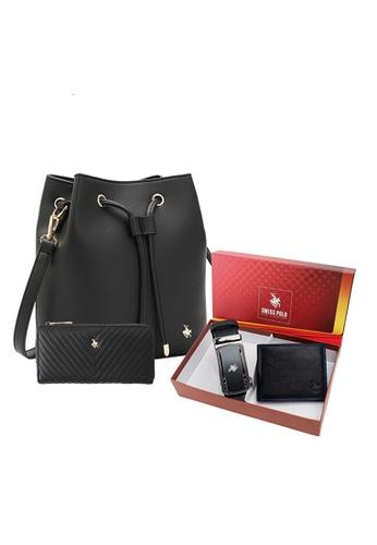 Swiss Polo black Unisex Gift Set A8FF4AC008B183GS_1