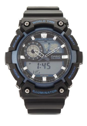 Casio multi Casio Youth Analog-Digital Black Dial Men's Watch CA843AC48VIDMY_1