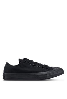 best website c953a a8c3e Converse black Chuck Taylor All Star Sugar Charms Ox Sneakers  738A5SHB58C7E8GS 1