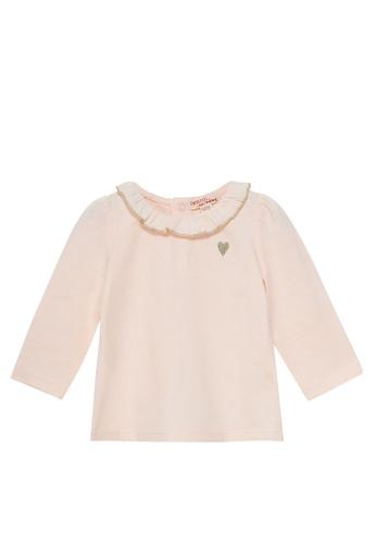 Du Pareil Au Même (DPAM) pink Embroidered Heart Blouse AC442KAFABBC14GS_1