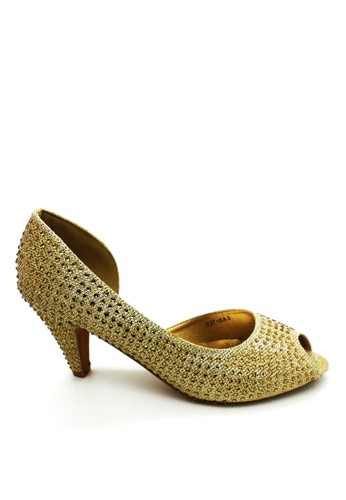 ED Swarovski Heels ED037-BA3 Gold