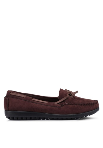 Louis Cuppers brown Bow Moccasins 693F0SH3303641GS_1