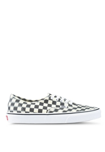 4b78a308a26 VANS black and white Authentic Blur Check Sneakers B0882SHF901043GS 1