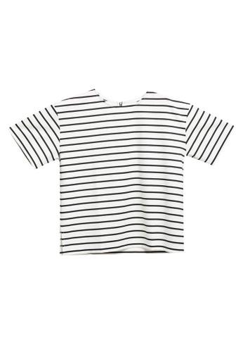 LOWRYS FARM white Back Zipper T-shirt 0E70DAA1DFAF68GS_1