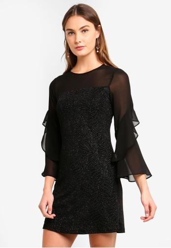 8e9dc881df4ccd Shop Wallis Petite Silver Glitter Shift Dress Online on ZALORA ...