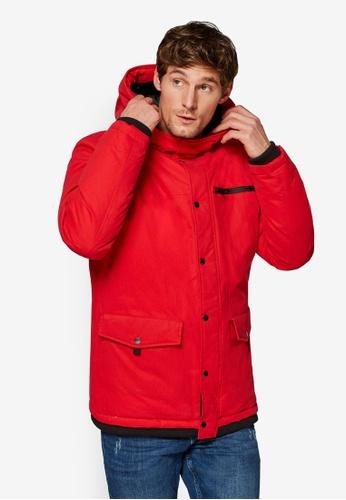 ESPRIT 紅色 Outdoor 連帽外套 193E7AA75DC513GS_1