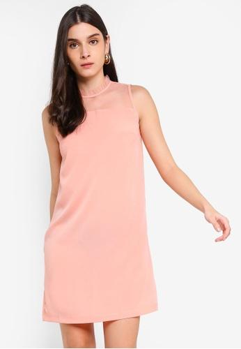 ZALORA 粉紅色 Lace Panel Dress 7225CAA448385FGS_1
